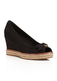 Tory Burch Jackie Wedge Peep Toe Pumps