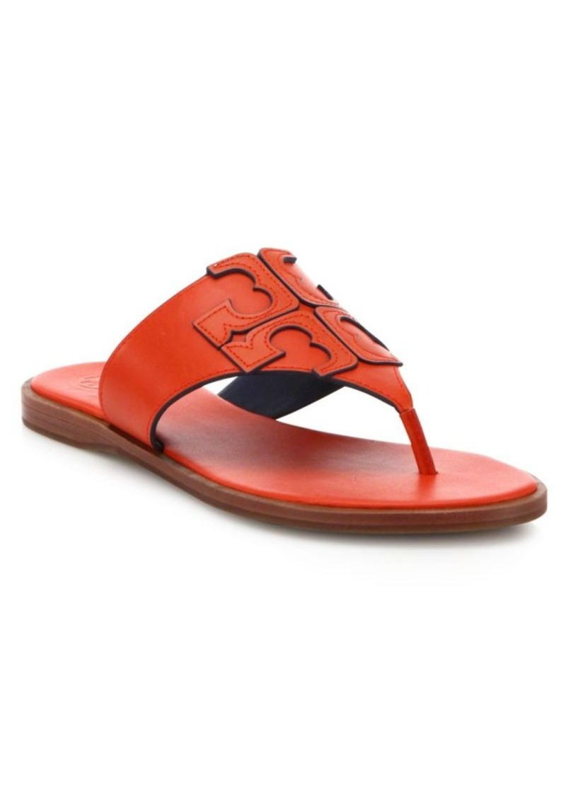 ce6be3adfa5 Tory Burch Tory Burch Jamie Leather Logo Thong Sandals