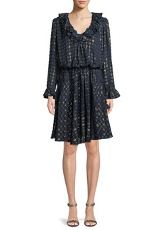 Tory Burch Jasmine Metallic-Stripe Dress