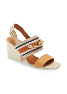 Tory Burch Jessa Horse Hardware Slingback Sandal (Women)