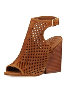 Tory Burch Jesse Perforated Open-Toe Bootie