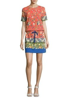Tory Burch Jessie Drawstring-Waist T-Shirt Dress