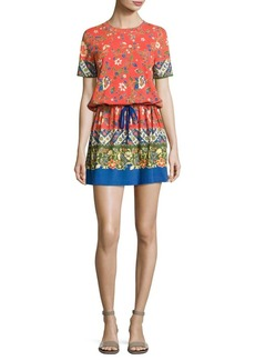 Tory Burch Jessie Floral-Print Pima Cotton T-Shirt Dress