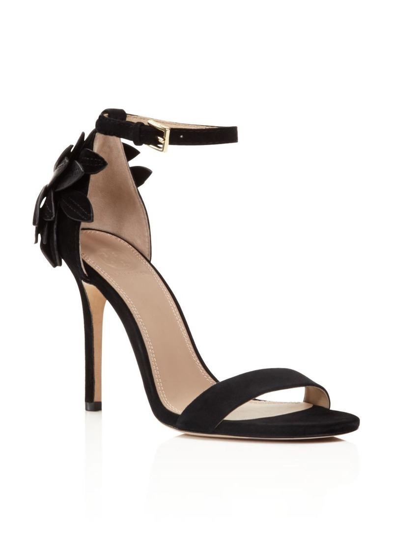 Tory Burch Jules Floral Appliqu� Ankle Strap Sandals