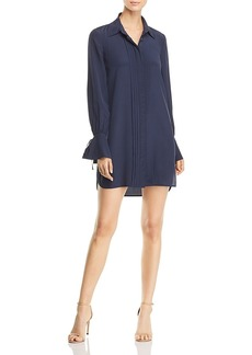 Tory Burch Kaylee Pleated Silk Shirt Dress