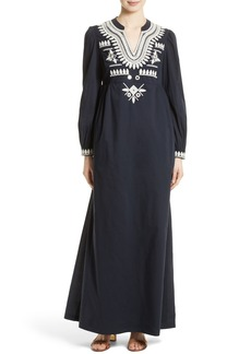 Tory Burch Keegan Embroidered Maxi Dress