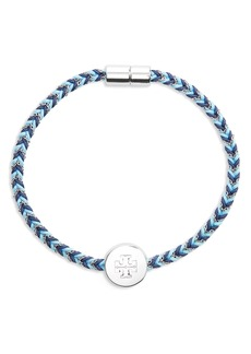 Tory Burch Kira Braided Charm Bracelet