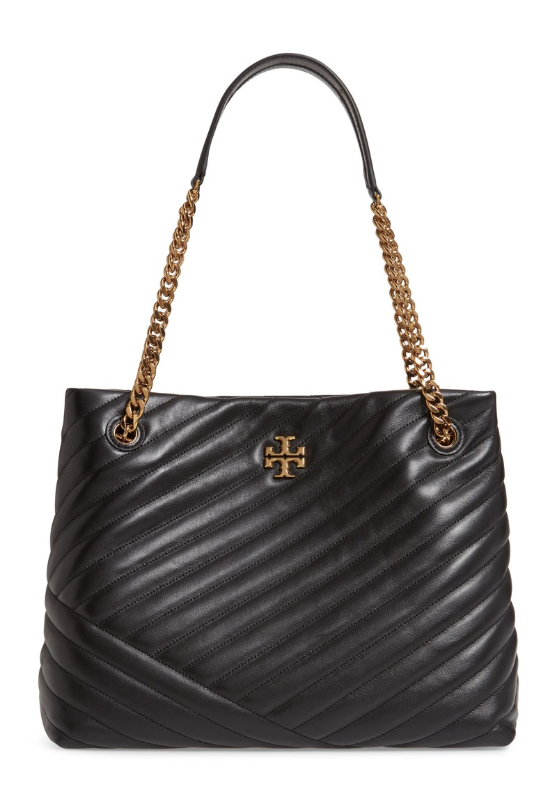 Tory Burch Kira Chevron Quilted Leather Tote in Black at Nordstrom