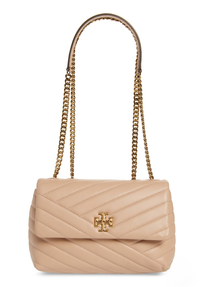 Tory Burch Kira Chevron Quilted Small Convertible Leather Crossbody Bag in Devon Sand at Nordstrom