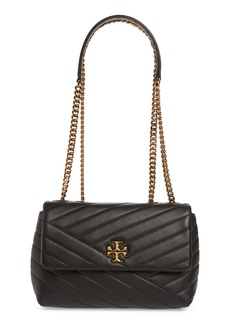 Tory Burch Kira Chevron Quilted Small Convertible Leather Crossbody Bag - Black
