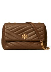Tory Burch Kira Chevron Quilted Small Convertible Leather Crossbody Bag in Black at Nordstrom