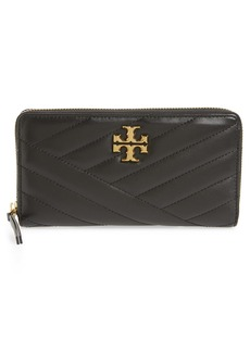 Tory Burch Kira Chevron Quilted Zip Leather Continental Wallet