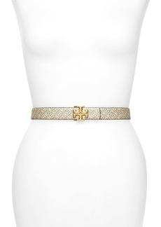 Tory Burch Kira Gemini Print Reversible Leather Belt