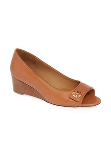 Tory Burch Kira Open Toe Wedge (Women)