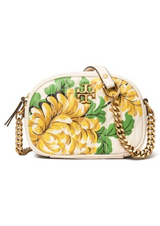 Tory Burch Kira Quilted Floral Leather Crossbody Bag
