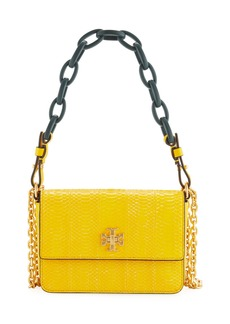 Tory Burch Kira Shiny Snakeskin Mini Shoulder Bag