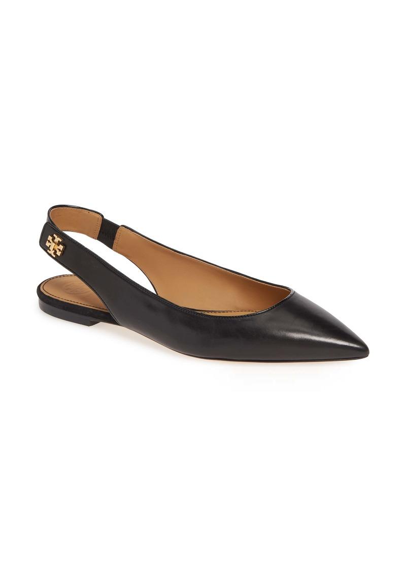 Tory Burch Kira Slingback Pointy Toe Flat (Women)
