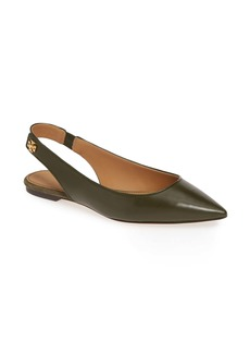 Tory Burch Kira Slingback Pointy Toe Flat (Women)
