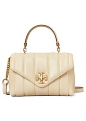 Tory Burch Kira Small Quilted Leather Satchel in Black at Nordstrom