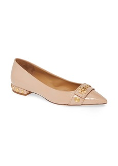Tory Burch Kira Studded Pointy Toe Flat (Women)