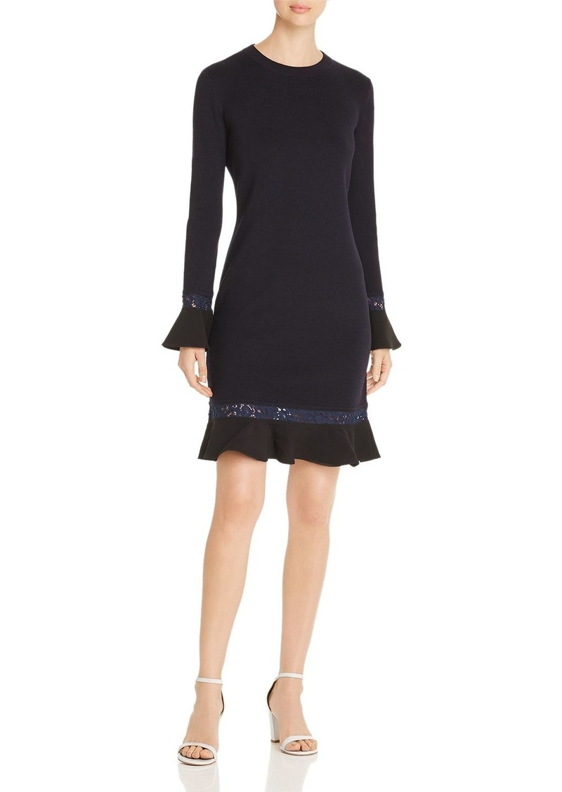 Tory Burch Lace-Trimmed Knit Dress