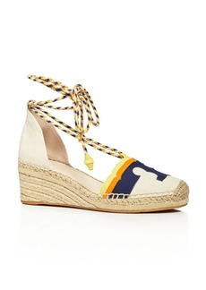 Tory Burch Laguna Lace Up Wedge Espadrilles