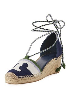 Tory Burch Laguna Leather Wedge Espadrille