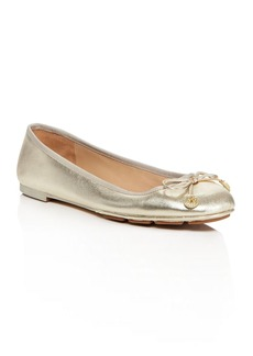 Tory Burch Laila Metallic Leather Ballet Flats