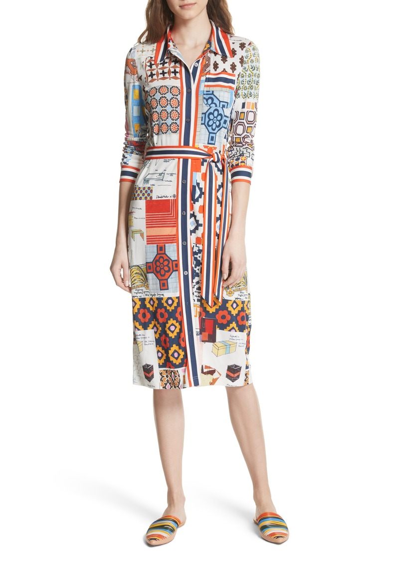 4f6617e1be2 Tory Burch Tory Burch Laurence Print Shirtdress