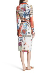 56b164ad5c0 Tory Burch Laurence Print Shirtdress Tory Burch Laurence Print Shirtdress
