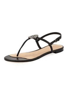 Tory Burch Liana Flat Embellished Thong Sandal