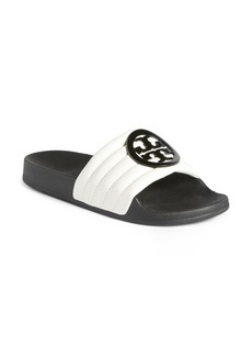 Tory Burch Lina Quilted Logo Slide Sandal (Women)