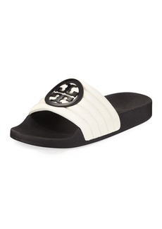 Tory Burch Lina Two-Tone Padded Slide Sandal