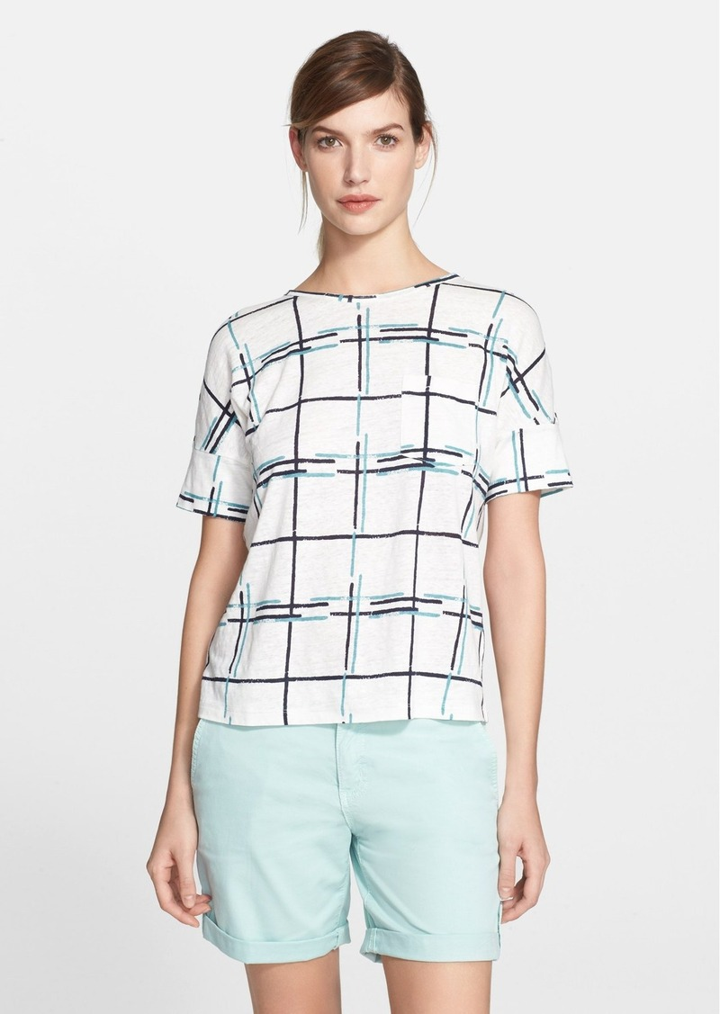 tory burch tory burch linen jersey pocket tee casual shirts shop it to me. Black Bedroom Furniture Sets. Home Design Ideas
