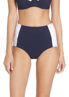 Tory Burch 'Lipsi' High Waist Bikini Bottoms (UPF 50)