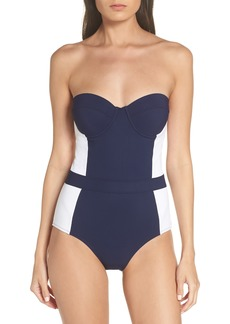 Tory Burch 'Lipsi' Underwire One-Piece Swimsuit (UPF 50)