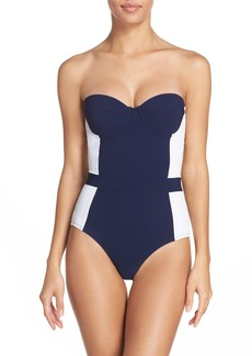 Tory Burch 'Lipsi' Underwire One-Piece Swimsuit (UPF 50)