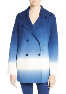 Tory Burch Livingston Ombré Merino Wool Knit Double Breasted Coat