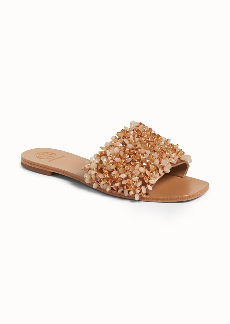 4d44fbcea64b Tory Burch Tory Burch Logan Embellished Slide Sandal (Women)
