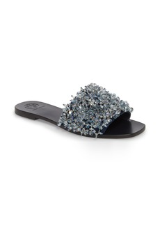 Tory Burch Logan Embellished Slide Sandal (Women)