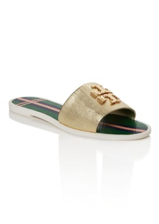 Tory Burch Logo Jelly Slide Sandals