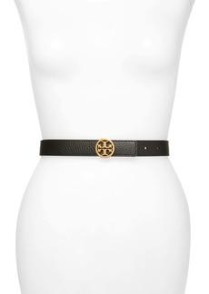 Tory Burch Logo Reversible Leather Belt