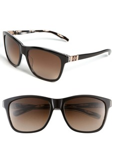 Tory Burch 'Logo' Translucent Sunglasses