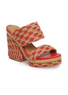 Tory Burch Lola Woven Platform Sandal (Women)