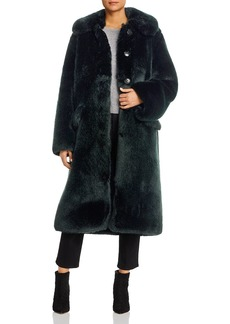 Tory Burch Long Faux Fur Coat