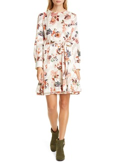Tory Burch Long Sleeve Burnout Shift Dress
