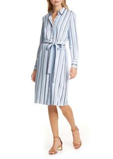 Tory Burch Long Sleeve Stripe Shirtdress