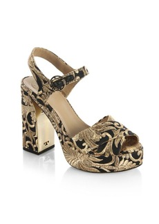 Tory Burch Loretta Embroidered Platform Sandals