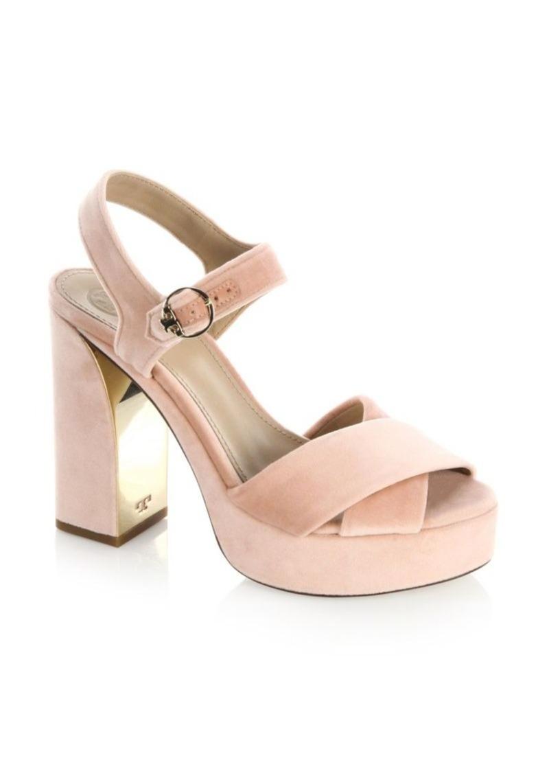 213500a90c1 Tory Burch Loretta Velvet Platform Sandals