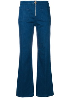 Tory Burch Luisa zip-front flare jeans - Blue